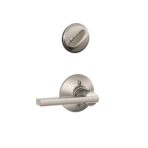Schlage Camelot Single Cylinder Handleset - Satin Nickel Collection