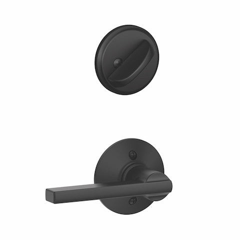 Schlage Camelot Single Cylinder Handleset - Matte Black Collection