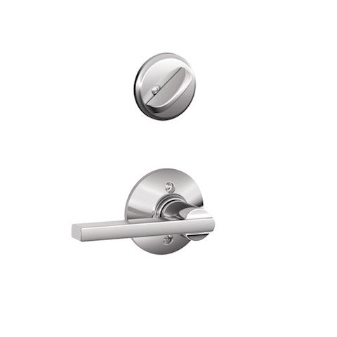 Schlage Plymouth Single Cylinder Handleset - Bright Chrome Collection