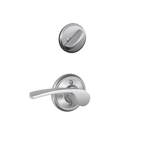 Schlage Greenwich Single Cylinder Handleset - Satin Chrome Collection