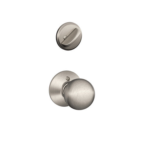 Schlage Plymouth Single Cylinder Handleset - Satin Nickel Collection