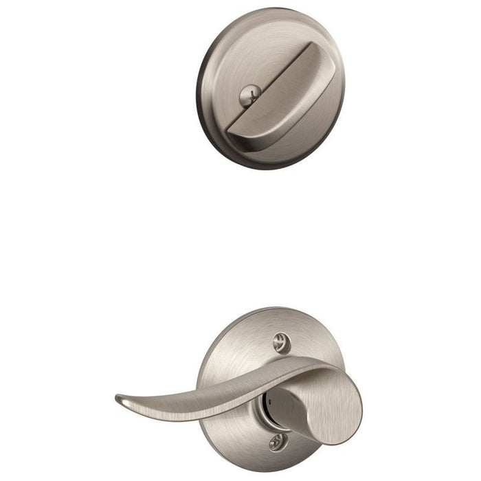 Schlage Wakefield Single Cylinder Handleset - Satin Nickel Collection