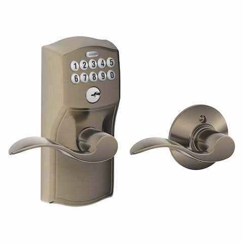 Schlage Keypad Lever With Auto Lock - Camelot - Accent Lever Collection