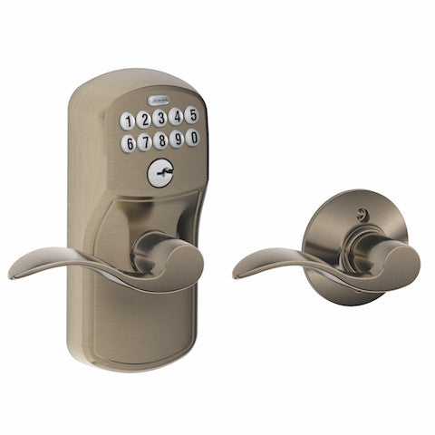 Schlage Keypad Lever With Auto Lock - Plymouth - Accent Lever Collection