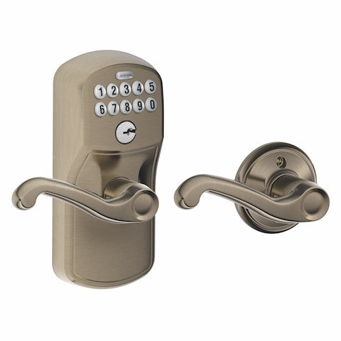 Schlage Keypad Lever With Auto Lock - Plymouth - Flair Lever Collection