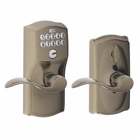 Schlage Keypad Lever With Flex Lock - Camelot - Accent Lever Collection