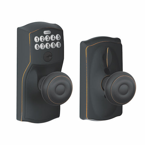 Schlage Keypad Knob With Flex Lock - Camelot - Georgian Knob Collection