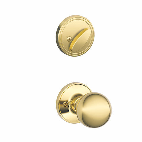 Schlage Barcelona Handleset - Bright Brass Collection