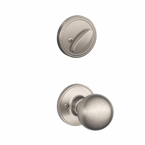 Schlage Paris Handleset - Satin Nickel Collection