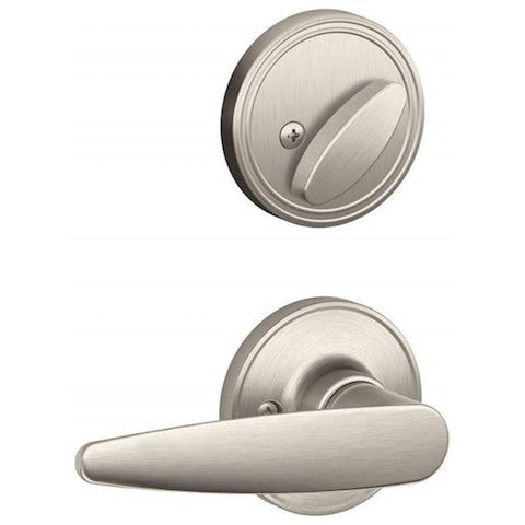 Schlage Barcelona Handleset - Satin Nickel Collection