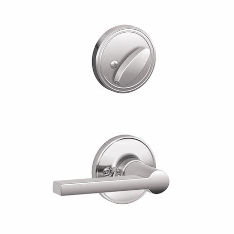 Schlage Paris Handleset - Bright Chrome Collection