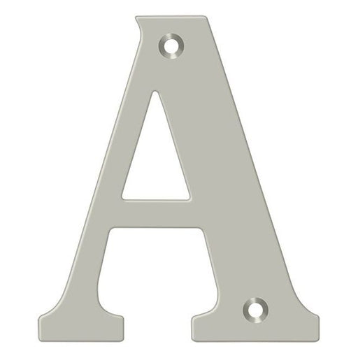 "Deltana RL4 4"" Satin Nickel House Letters"