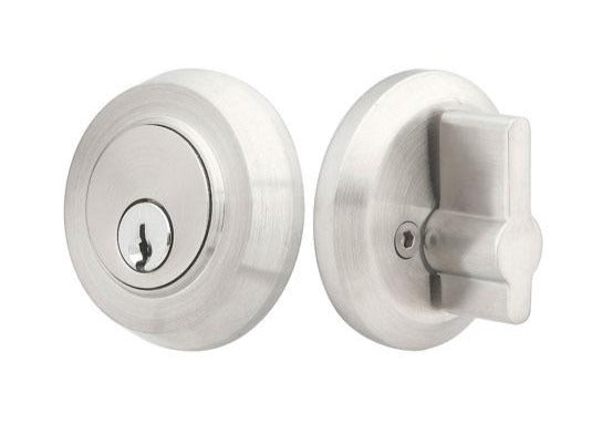 Emtek Stainless Steel Round Single Cylinder Deadbolt