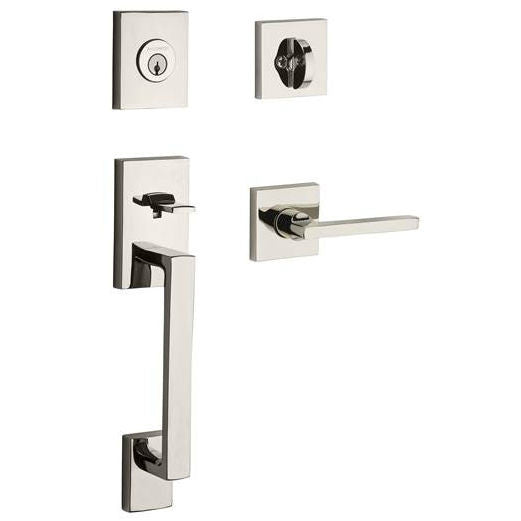 Baldwin Reserve La Jolla With Square Lever And Contemporary Square Rose Collection