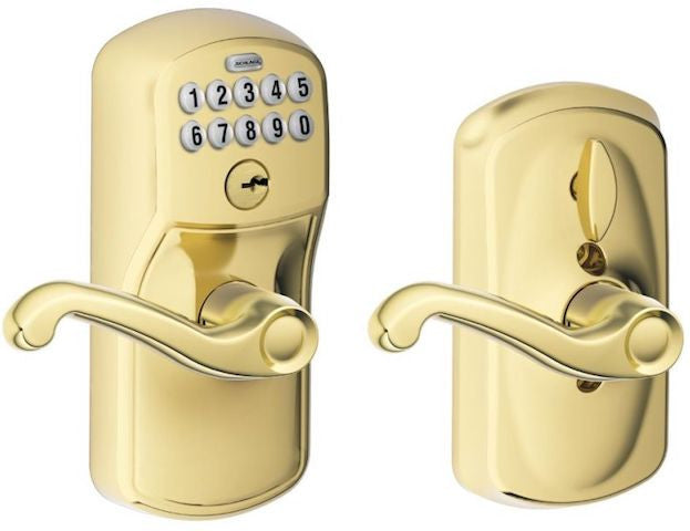 Schlage Keypad Lever With Flex Lock - Plymouth - Flair Lever Collection