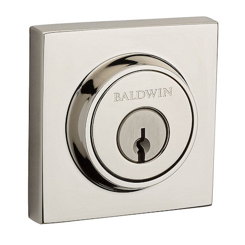 Baldwin Reserve Contemporary Square Double Cylinder Deadbolt Collection