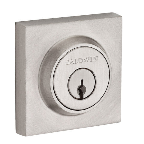 Baldwin Reserve Contemporary Square Single Cylinder Deadbolt Collection