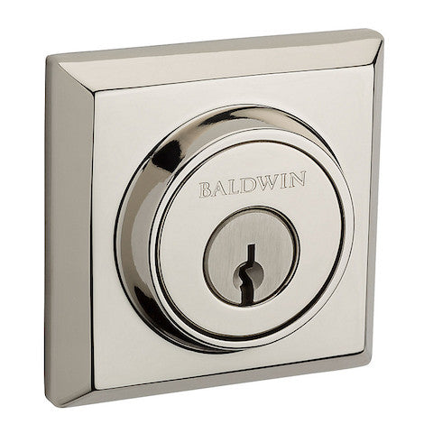 Baldwin Reserve Traditional Square Single Cylinder Deadbolt Collection