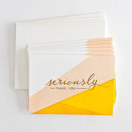 Seriously, Thank You boxed note cards