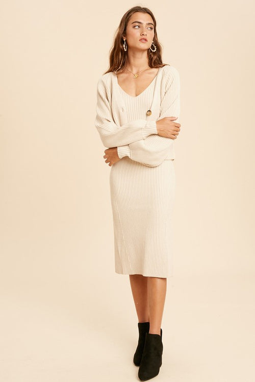 Jeannine Sweater Dress Set