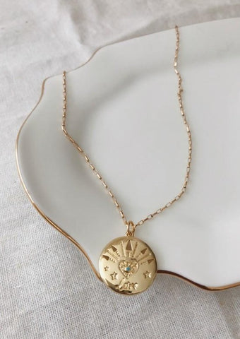 Caesar Coin Pendant Necklace