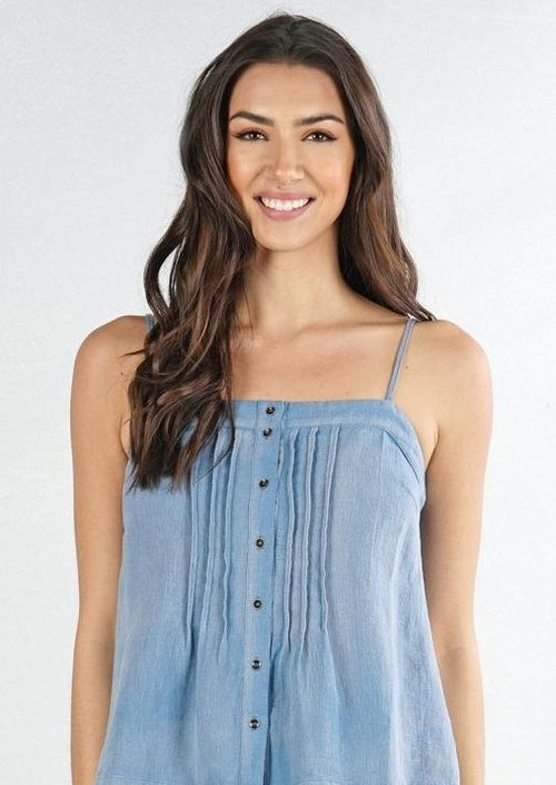 Lenette Chambray Cami Top