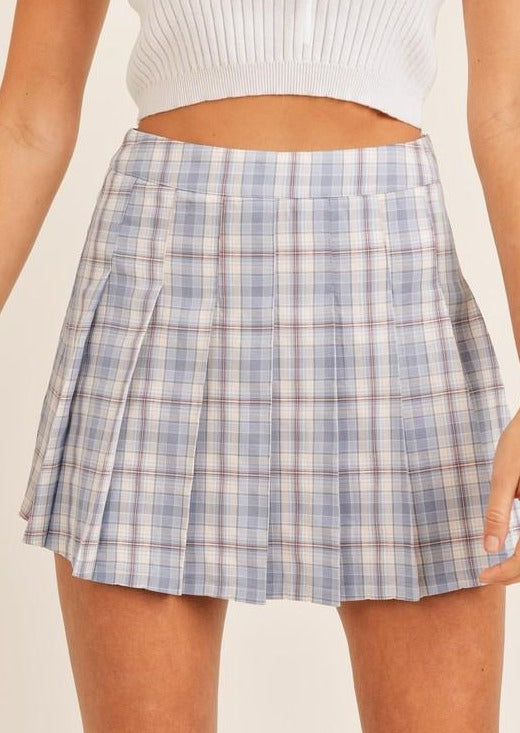 Courtside Plaid Skirt