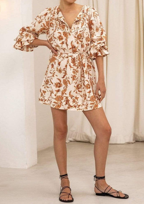 Ophelia Linen Tunic Mini Dress