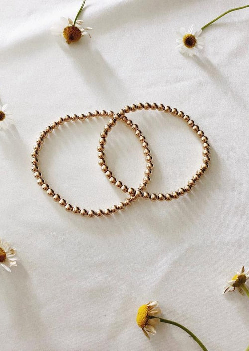 Gold Bead Stretch Bracelet