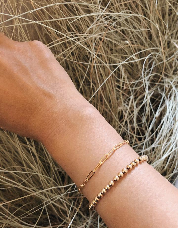 Thin Rectangle Chain Bracelet