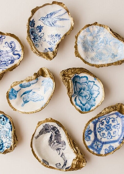 Decoupage Oyster Jewelry Dish