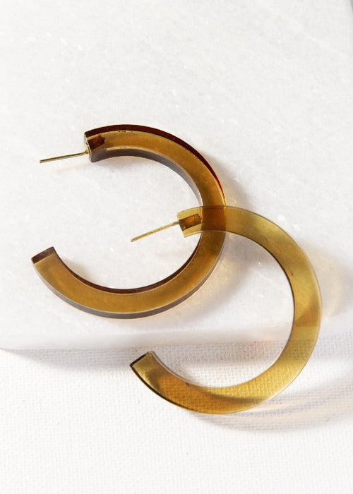 Lucite Small Hoops