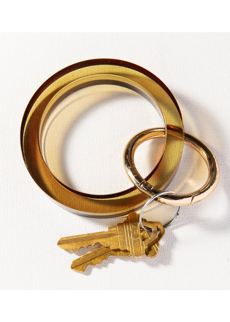Lucite Key Ring