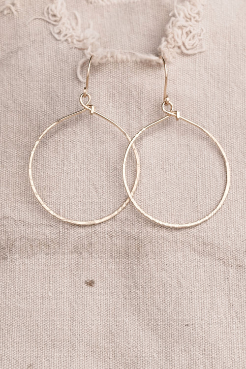 Textured Gold Hoop