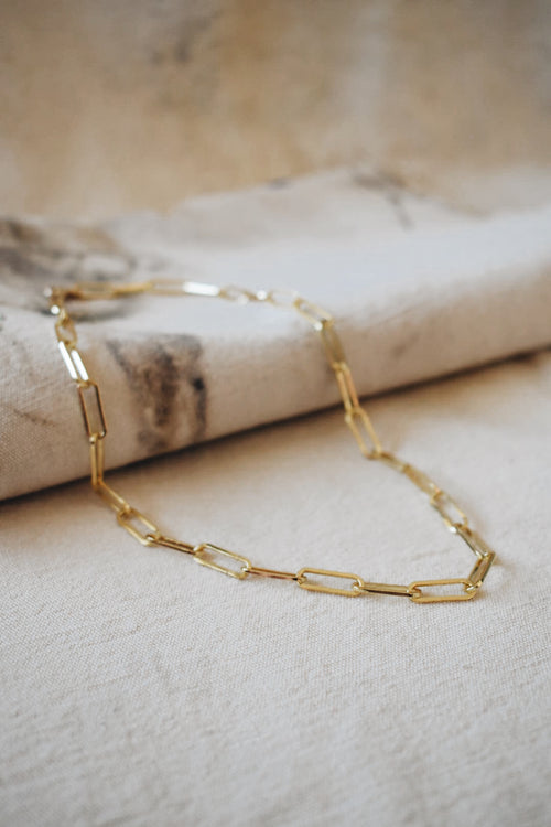 Large Square Link Necklace