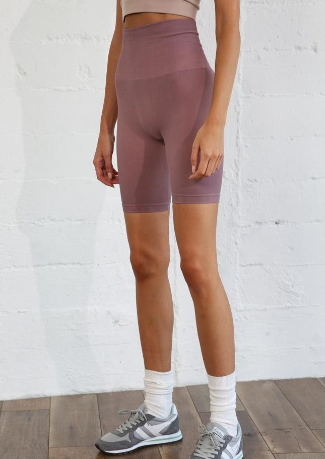 Ribbed High Waist Bike Short