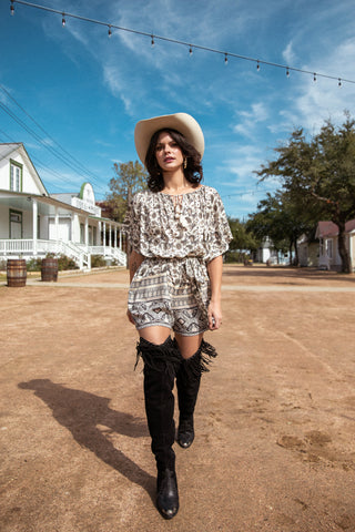 Charli Button Down Safari