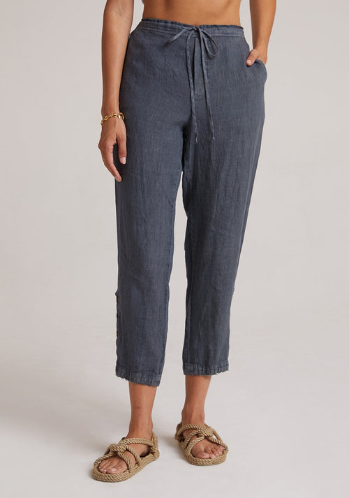 Side Button Drawstring Pant
