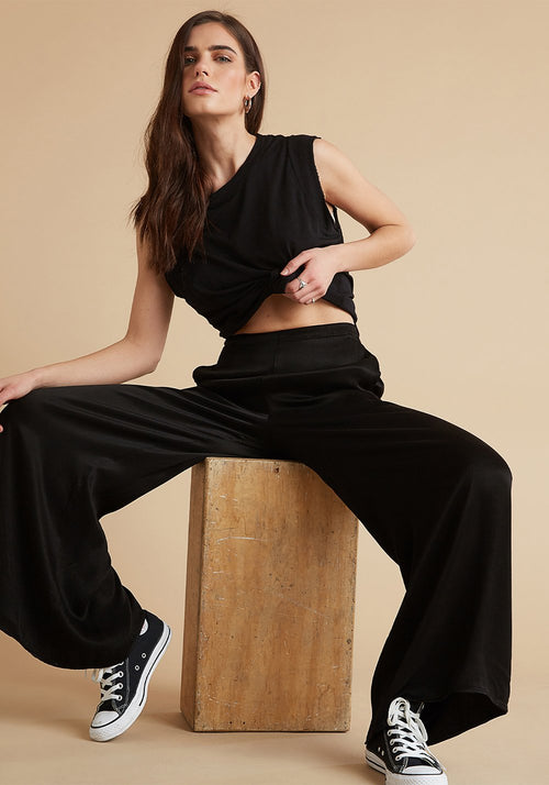 High Waist Flowy Pants
