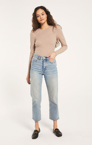Carmin Ribbed Crop Top