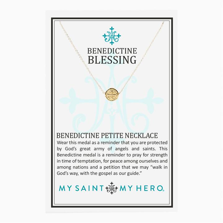 Benedictine Cross Petite coin necklace