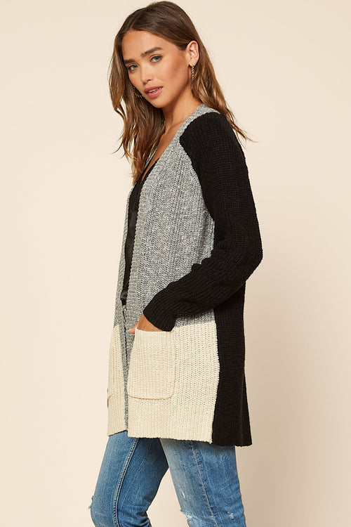 Everett Color-Block Cardigan