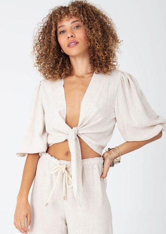 Not Alone Tie Top