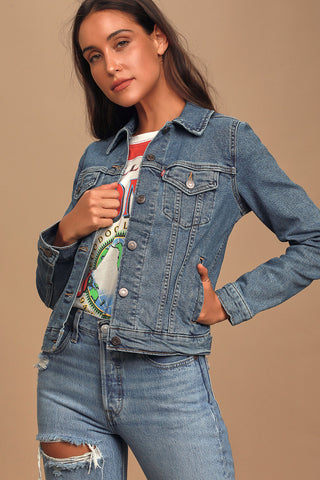 Levi's White Trucker Jacket