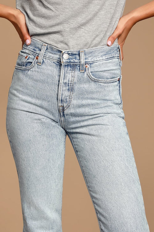 Levi's High Rise Wedgie Cropped Jeans