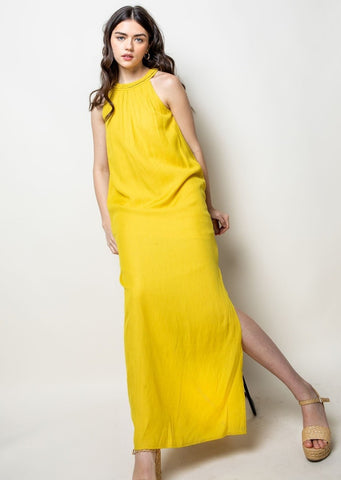 Halter Long Midi Dress by Bella Dahl