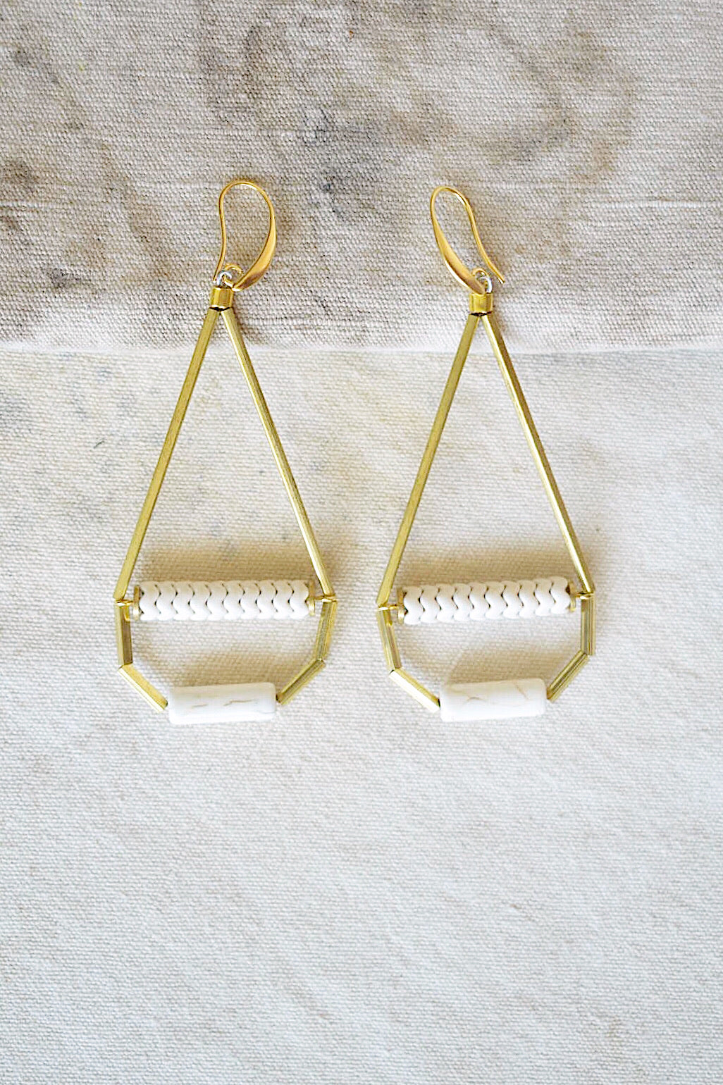 Teardrop Ivory Beaded Earrings