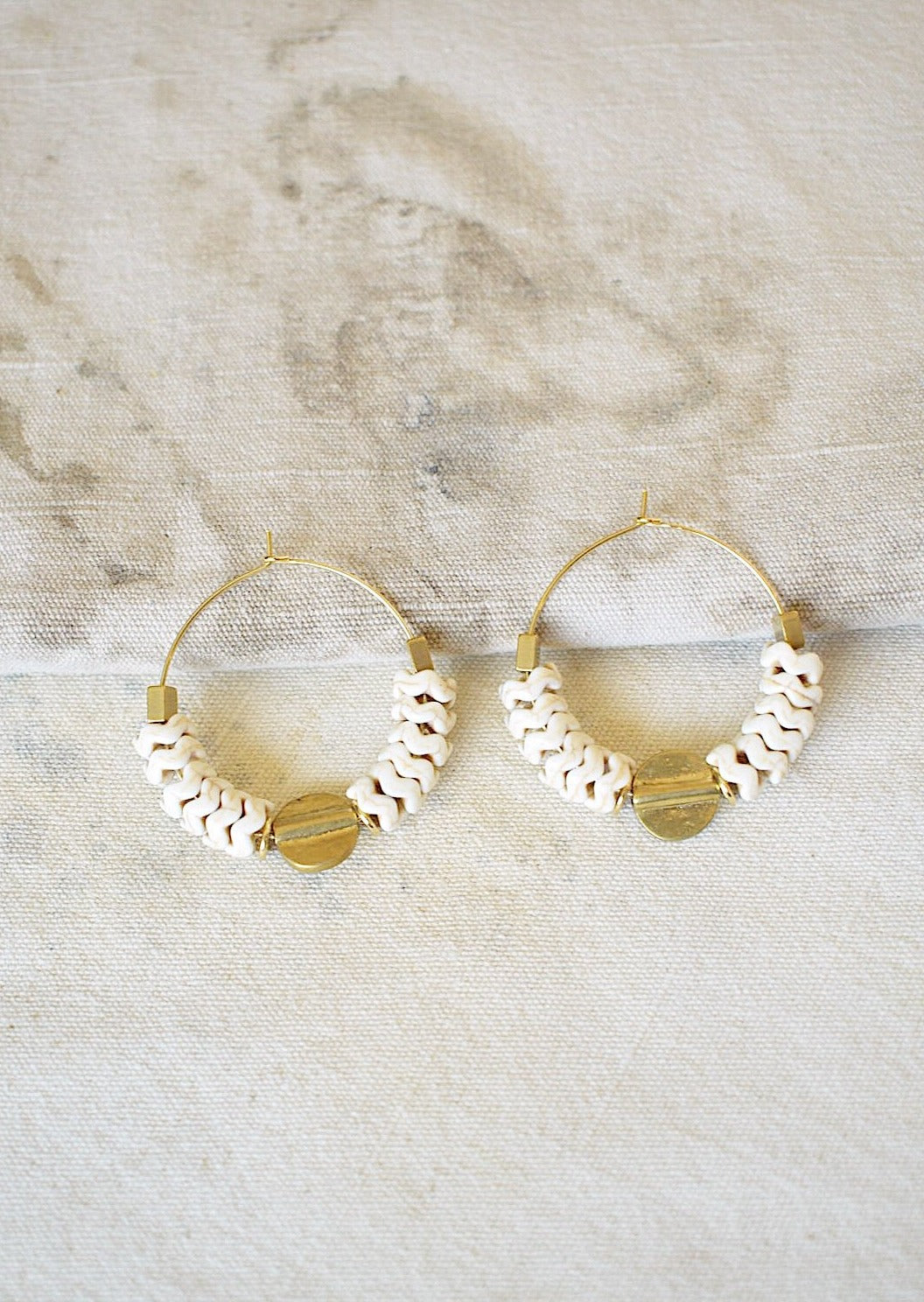 18K Gold Plated Tribal Inspired Hoops