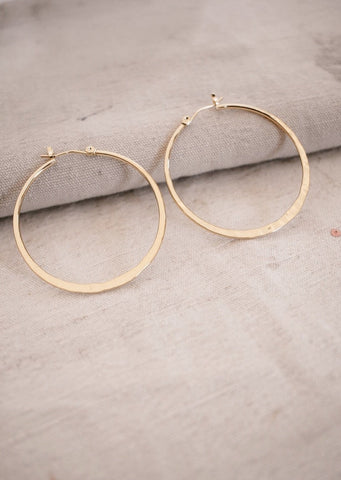 Links Hoop Earrings-Silver