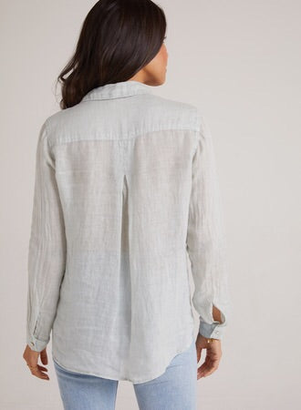 Bella Dahl Pocket Button Down Spring Mint